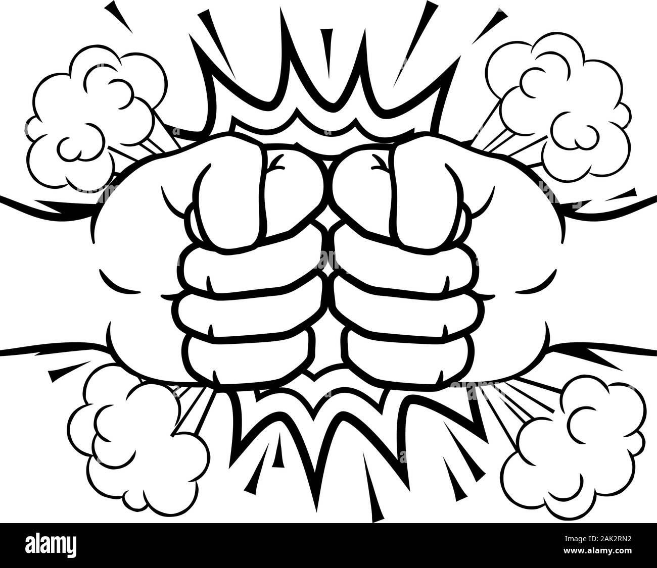 Drawing Two Punching High Resolution Stock Photography And Images Alamy