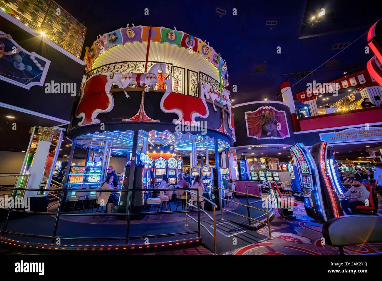 Las Vegas Jan 4 Interior View Of The Famous Circus Circus Hotel