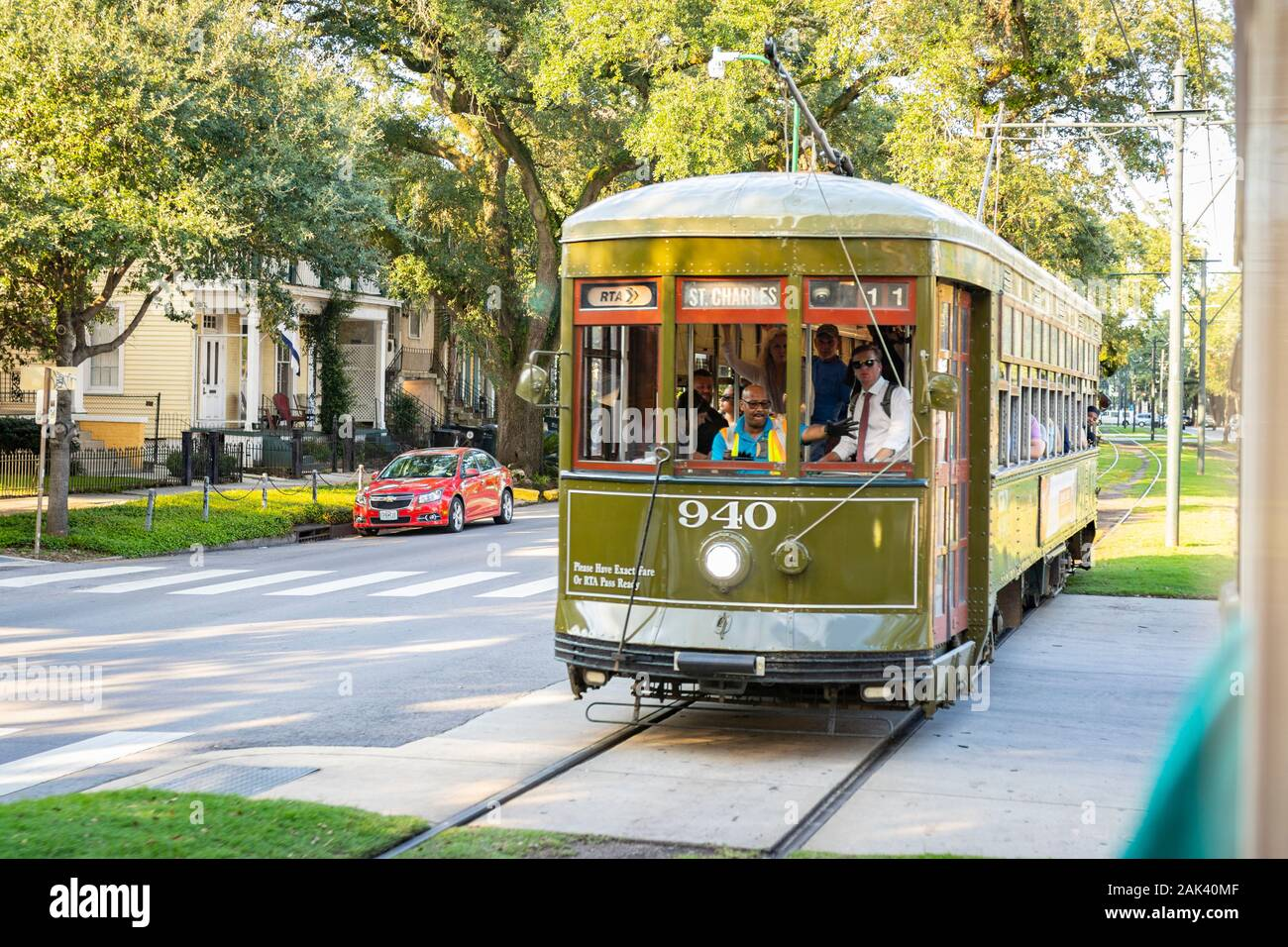 St Charles Streetcar New Orleans High Resolution Stock Photography And Images Alamy
