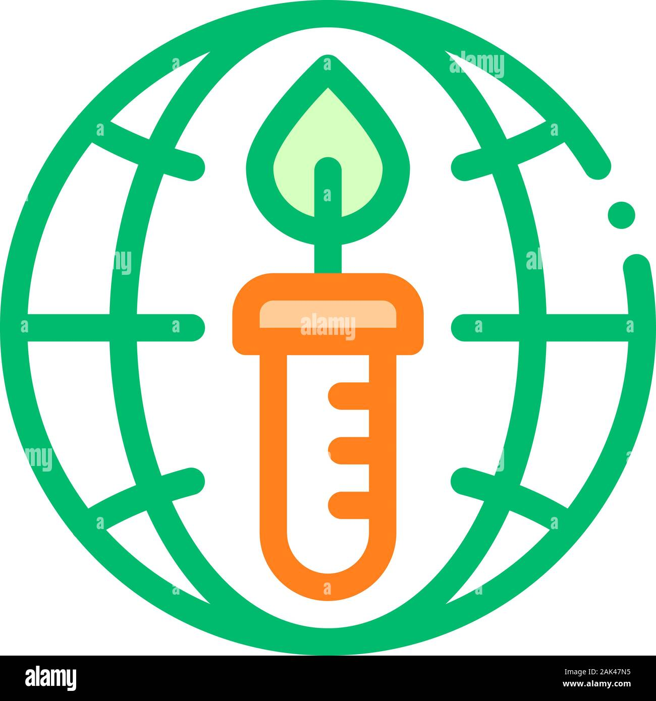 Candle Planet Earth Problem Vector Thin Line Icon Stock Vector