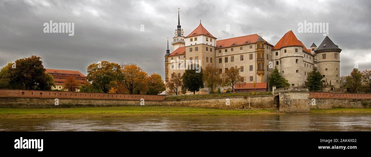 Torgau: Renaissanceschloss Hartenfels an der Elbe, Leipzig   usage worldwide Stock Photo