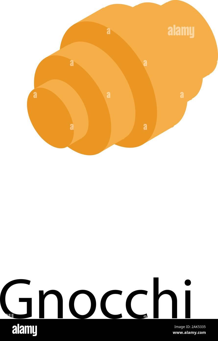Gnocchi pasta icon, isometric style Stock Vector