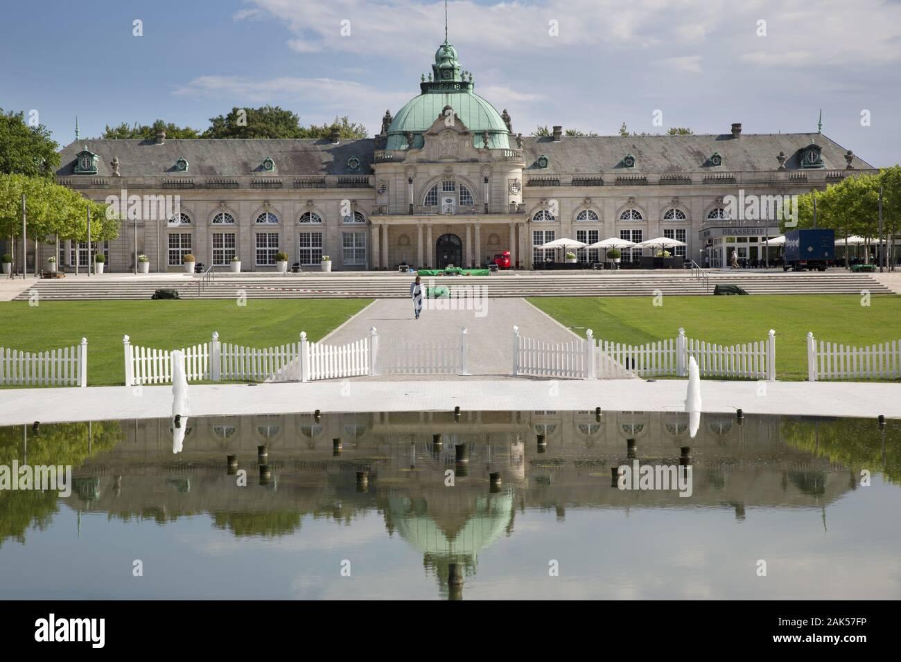 Bad Oeyenhausen: Blick auf das Kaiserpalais, Weserbergland | usage worldwide Stock Photo