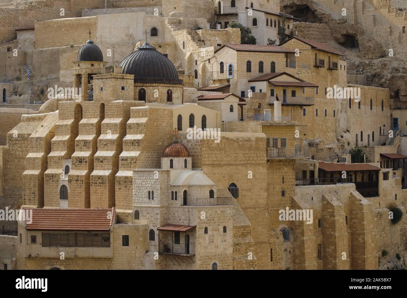 Kidron-Tal: griechisch-orthodoxes Kloster Mar Saba, Israel | usage worldwide Stock Photo