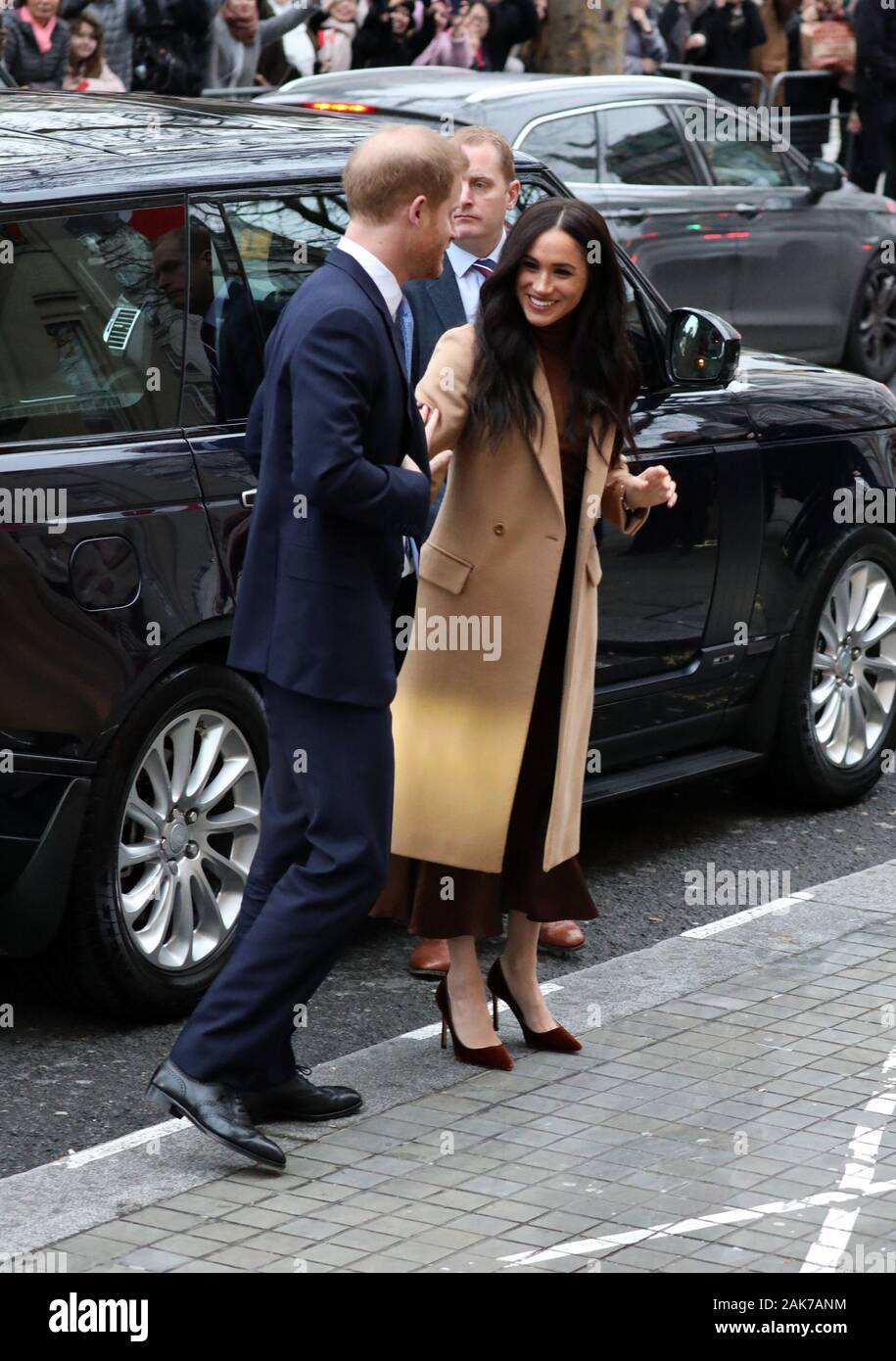 London, UK. 7th Jan 2020. Prince Harry (Duke of Sussex) and Meghan Markle (Duchess of Sussex) visit Canada House, London, UK, on January 7, 2020. Credit: Paul Marriott/Alamy Live News Stock Photo