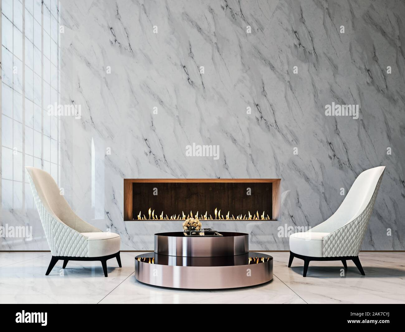 Modern Marble Fireplace High Resolution Stock Photography And Images Alamy