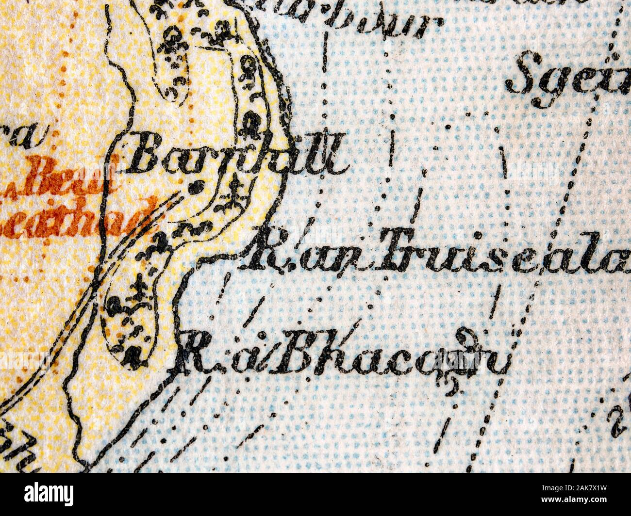 Picture of: Old Map Of The Isle Of Jura Scotland The Map Features Barnhill Where The Author George Orwell Completed His Novel 1984 Stock Photo Alamy