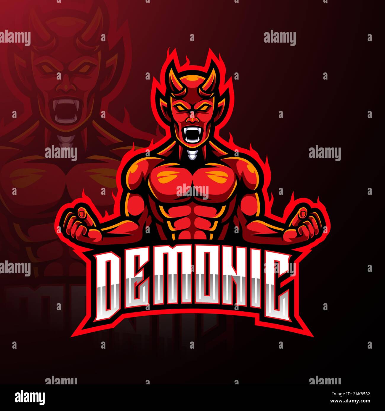 angry red devil esport mascot logo design stock vector image art alamy https www alamy com angry red devil esport mascot logo design image338855218 html