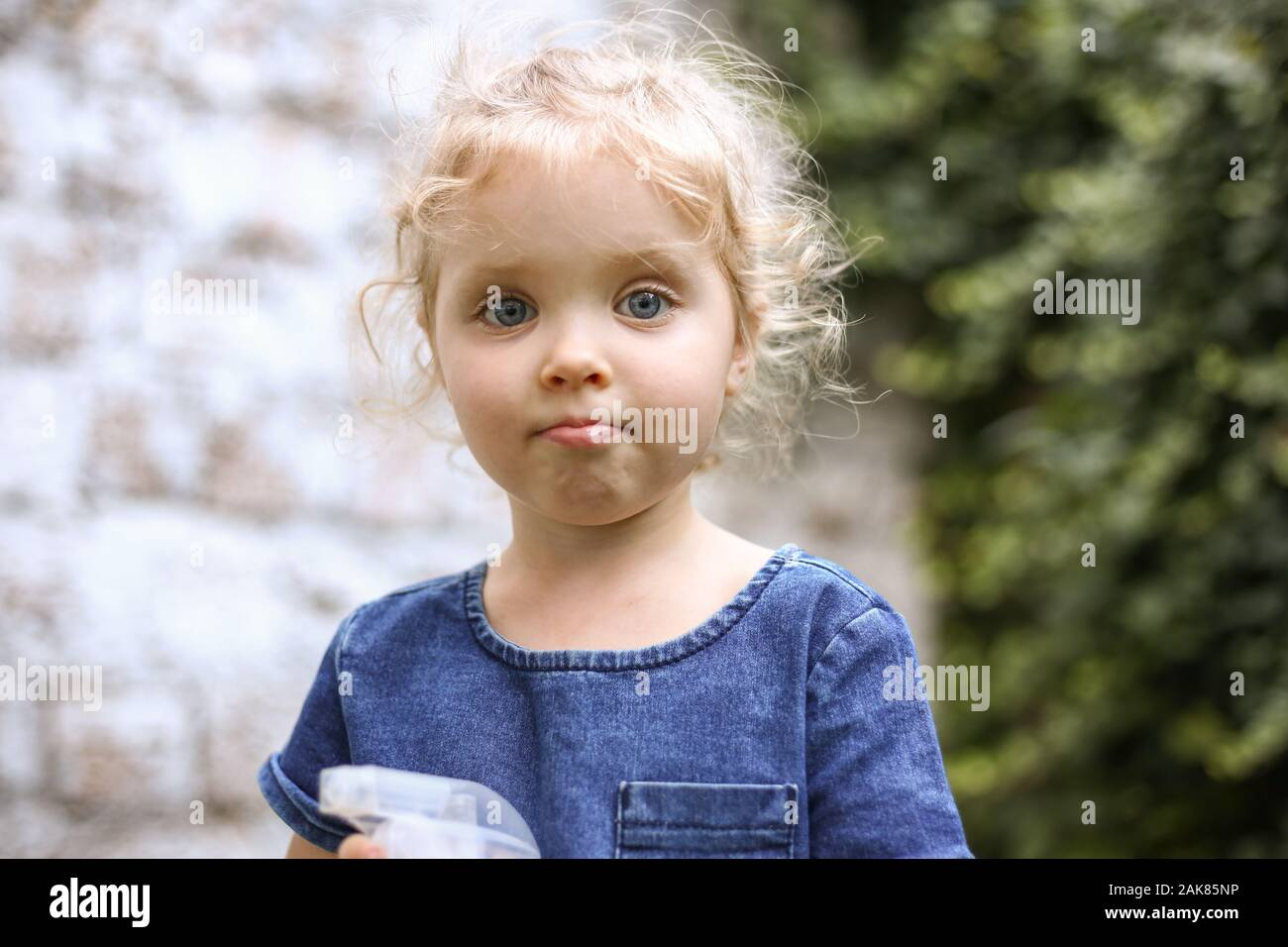 Baby Girl Curly Hair Blue Eyes High Resolution Stock Photography And Images Alamy