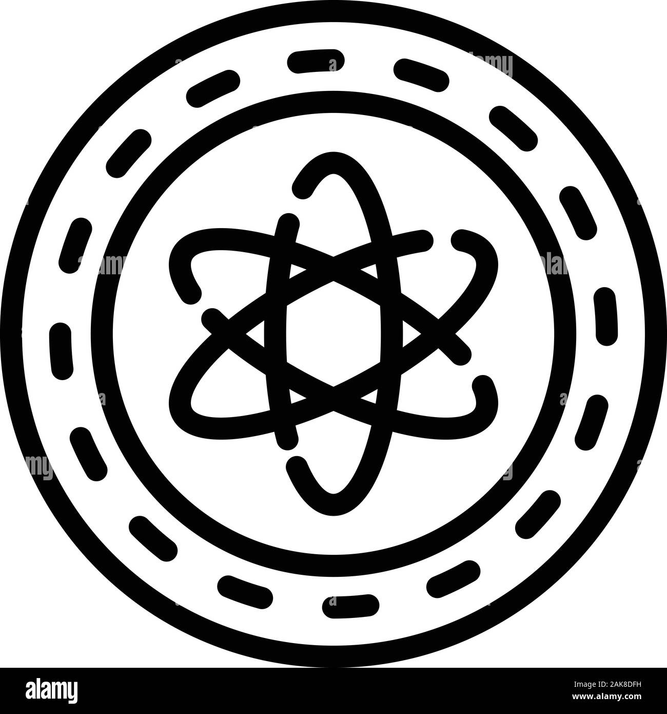 atom structure icon outline style stock vector image art alamy alamy