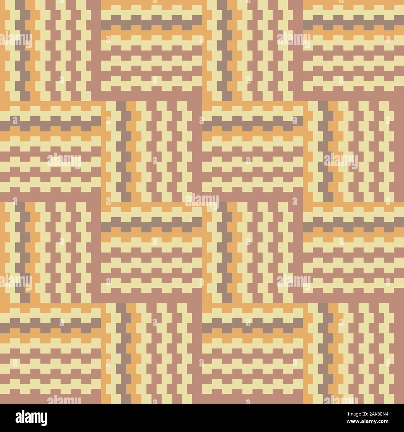 Geometric crisscross pattern in brownish earth tones. Stock Photo
