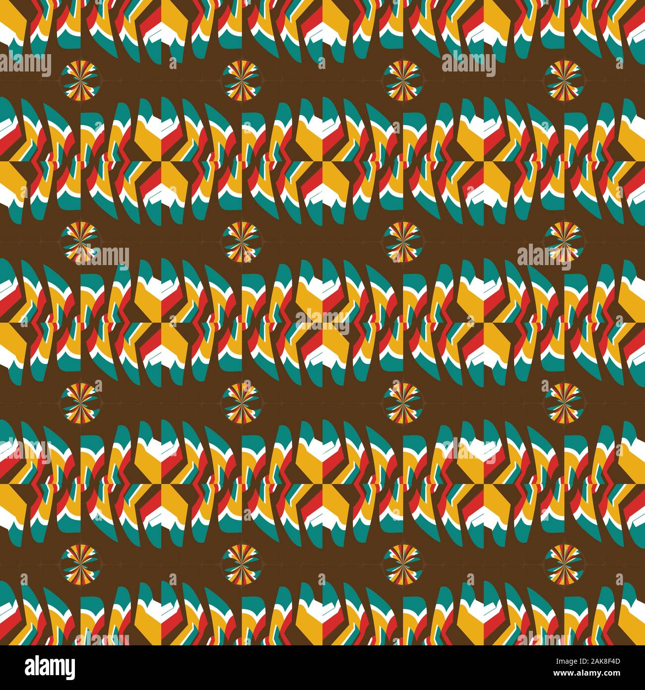 Geometric pattern with colorful abstract shapes. Stock Photo