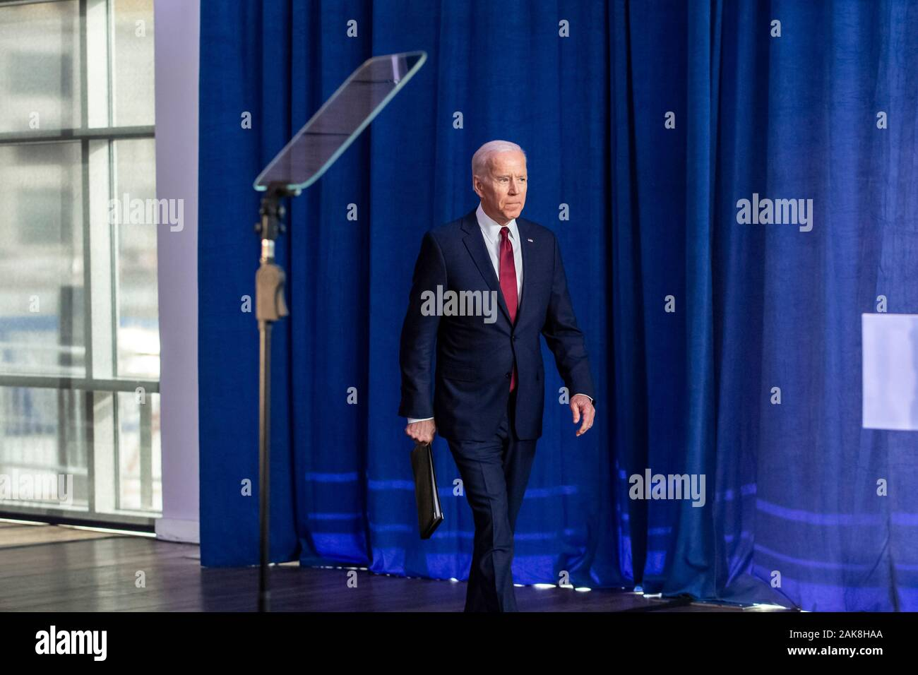 New York City, United States. 07th Jan, 2020. Former Vice President Joe Biden delivers a foreign policy statement at Current at Chelsea Piers, Pier 59 on January 7, 2020 in New York City, New York. Credit: The Photo Access/Alamy Live News Stock Photo