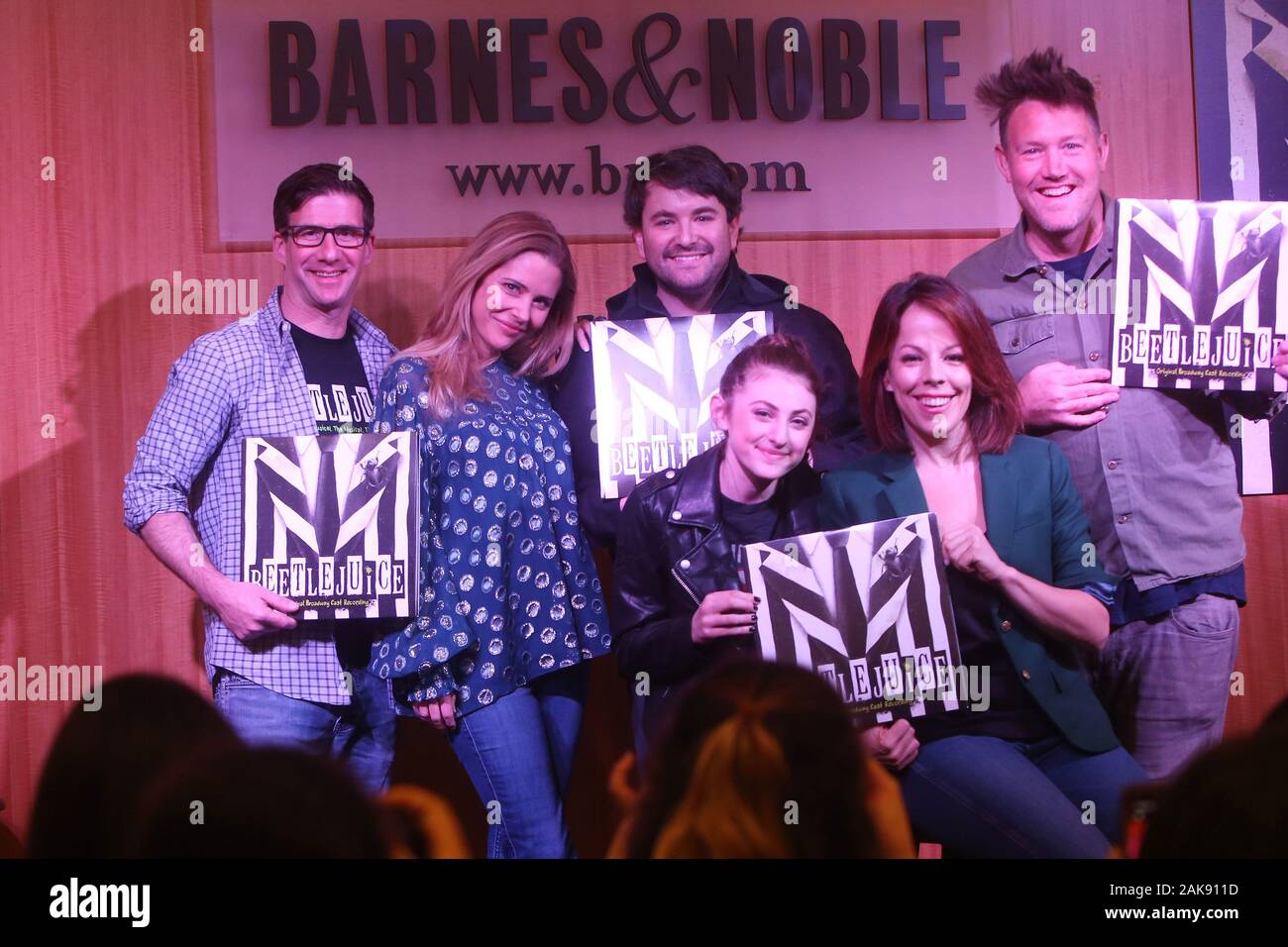 Beetlejuice The Musical Original Cast Release Celebration Album Performance Held At Barnes And Noble Bookstore Featuring
