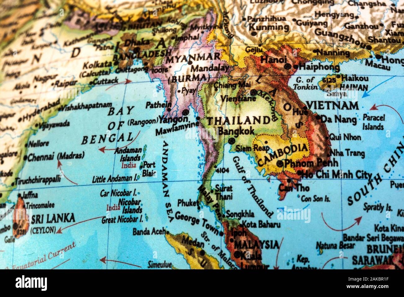 South East Asia Map High Resolution Stock Photography And Images Alamy