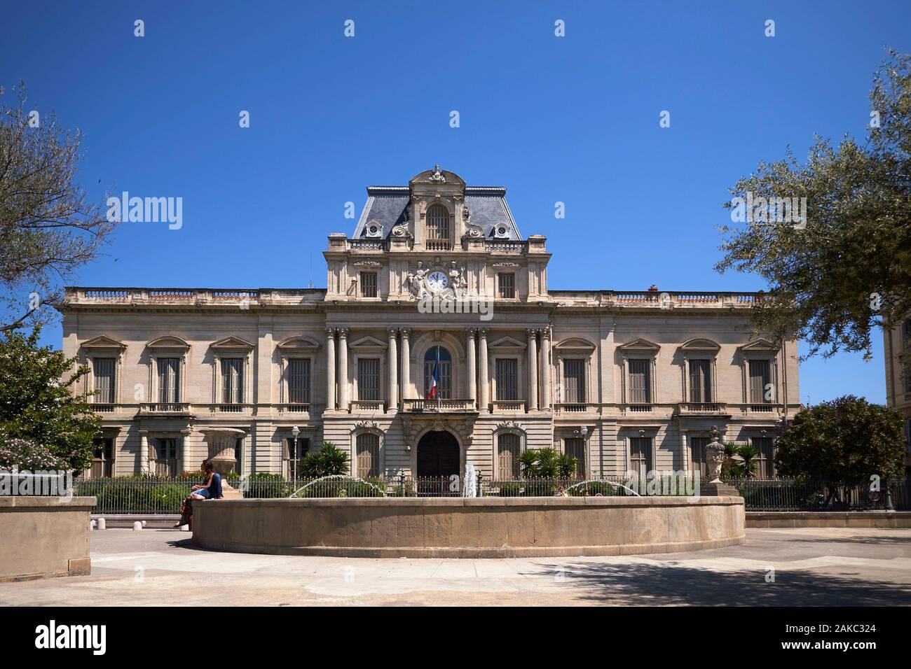 prefecture de l herault carte grise France, Herault, Montpellier, the prefecture Stock Photo