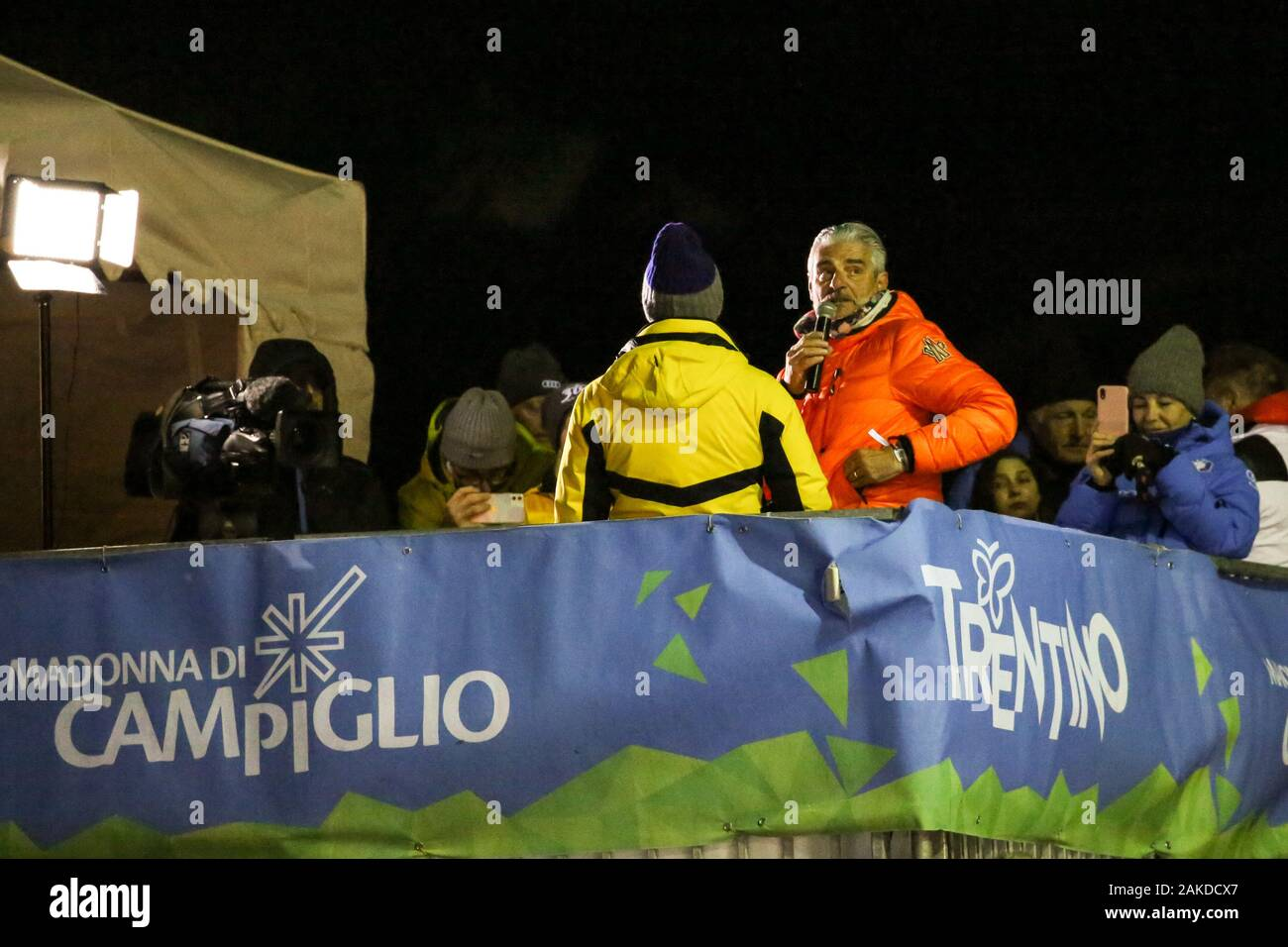 Madonna Di Campiglio, Italy. 08th Jan, 2020. maurizio arrivabene during FIS AUDI World Cup - 3Tre - Night Men Slalom, Ski in Madonna di Campiglio, Italy, January 08 2020 Credit: Independent Photo Agency/Alamy Live News Stock Photo