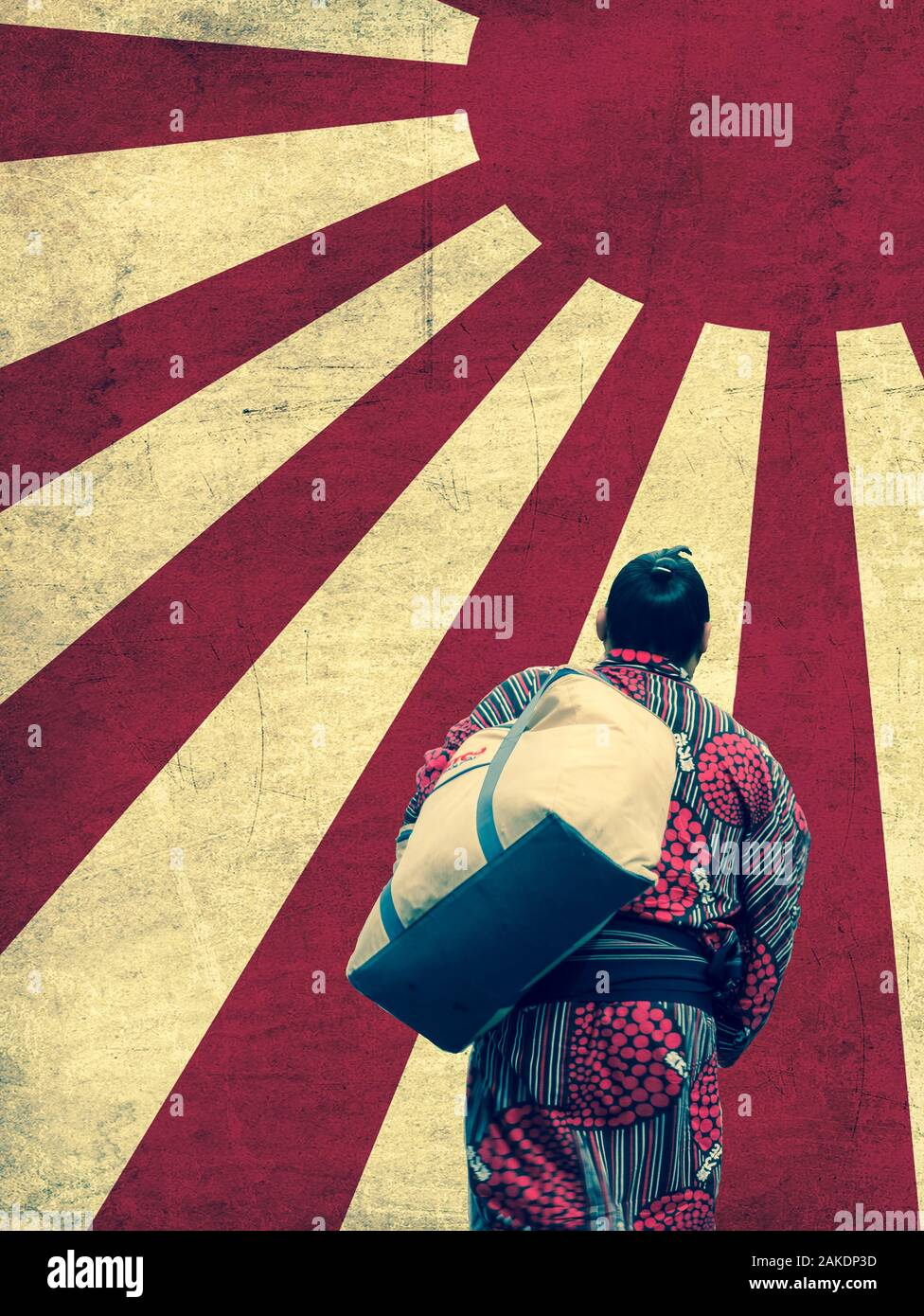 Tokyo, Japan. September 9, 2018. : Sumo wrestlers arrives at the Ryogoku Kokugikan Sumo arena in central Tokyo for competition days Stock Photo