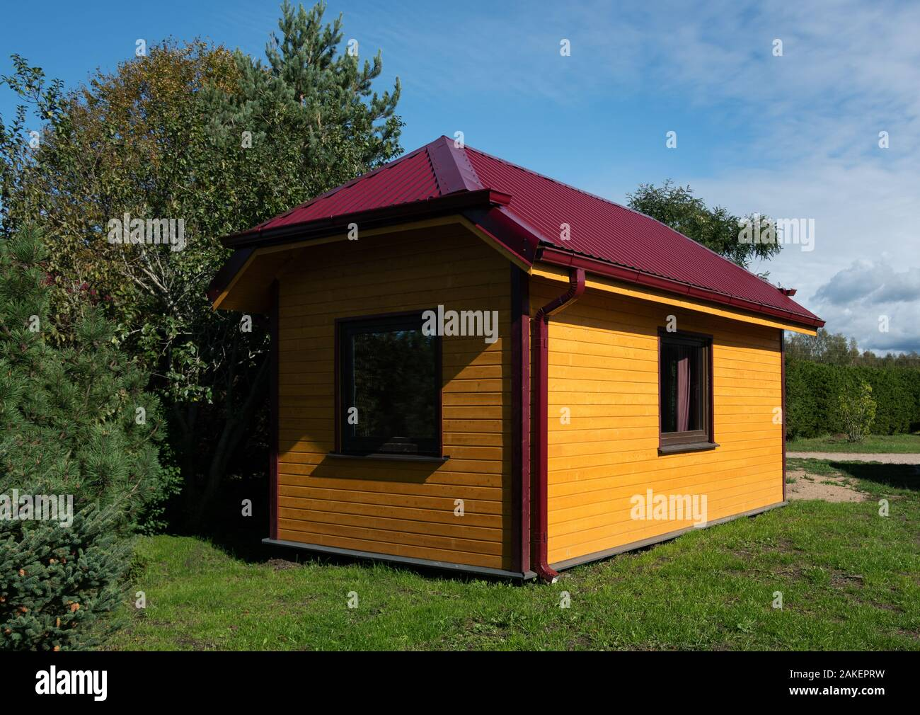 Small Traditional Camping House For Rest Stock Photo 339000701