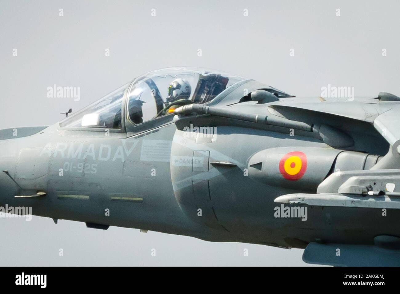 Fairford, Gloucestershire, UK - July 20th, 2019: Spanish Navy EAV-8B Harrier II Displays at the Fairford International Air Tattoo 2019 Stock Photo