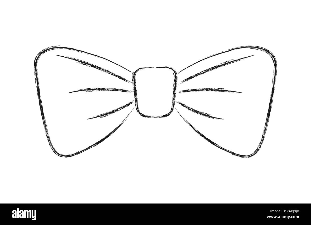 Pencil Sketch Of A Bow Tie In The Style Of Doodle Isolated On White Background For Greeting Cards Posters Stickers And Seasonal Design Isolated O Stock Vector Image Art Alamy