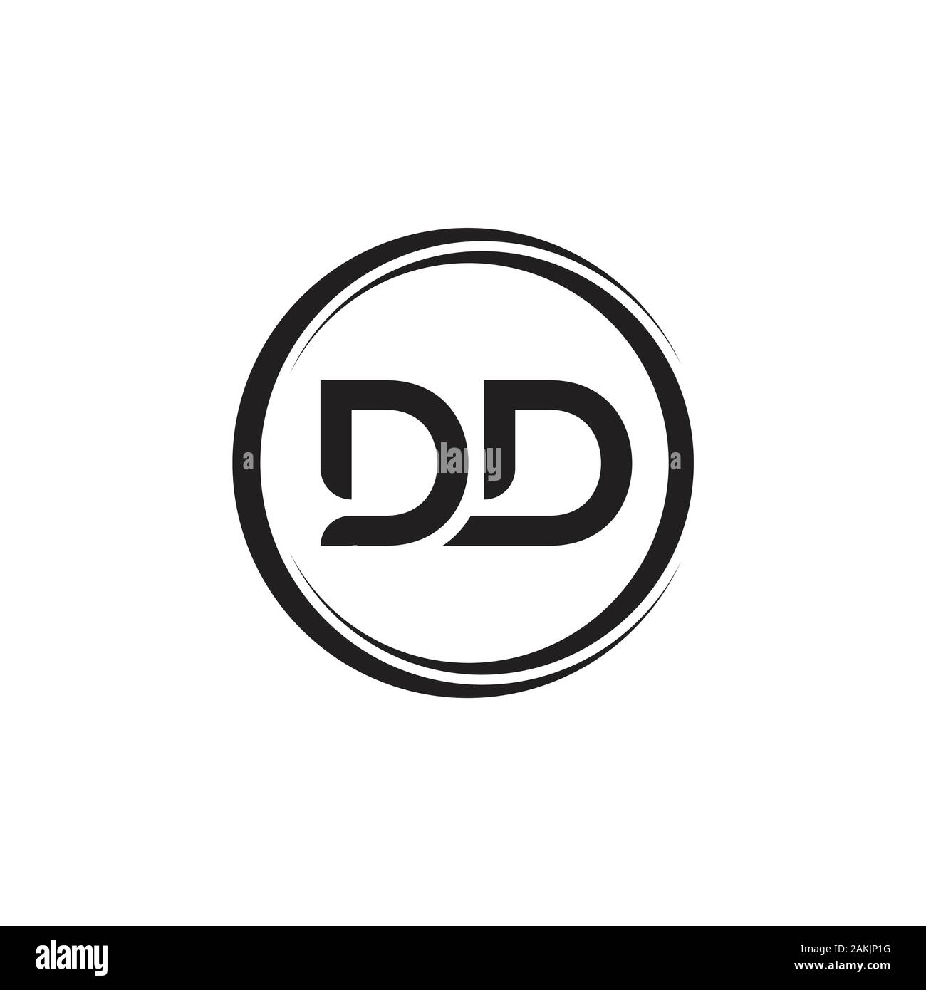 Initial DD Letter Logo With Creative Modern Business Typography Vector Template. Creative Abstract Letter DD Logo Vector. Stock Vector