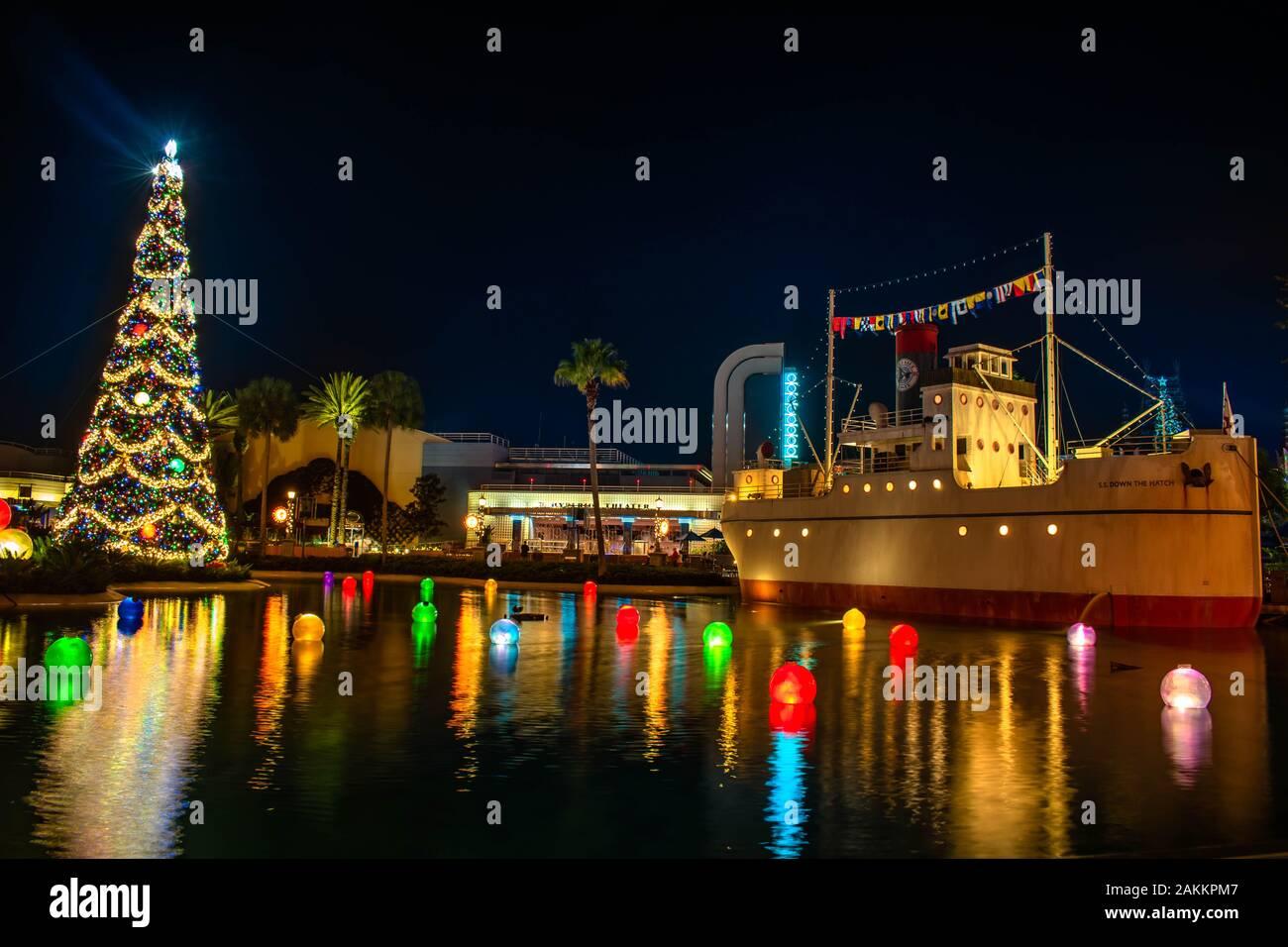 Christmas Balls In Orlando 2020 Orlando, Florida. January 03, 2020, Christmas tree , colorful