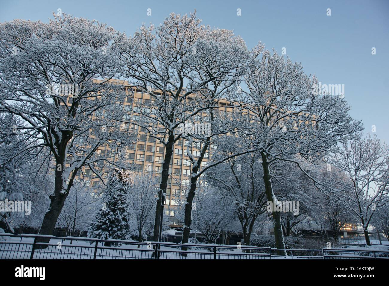 snow, Kingston upon Hull Stock Photo