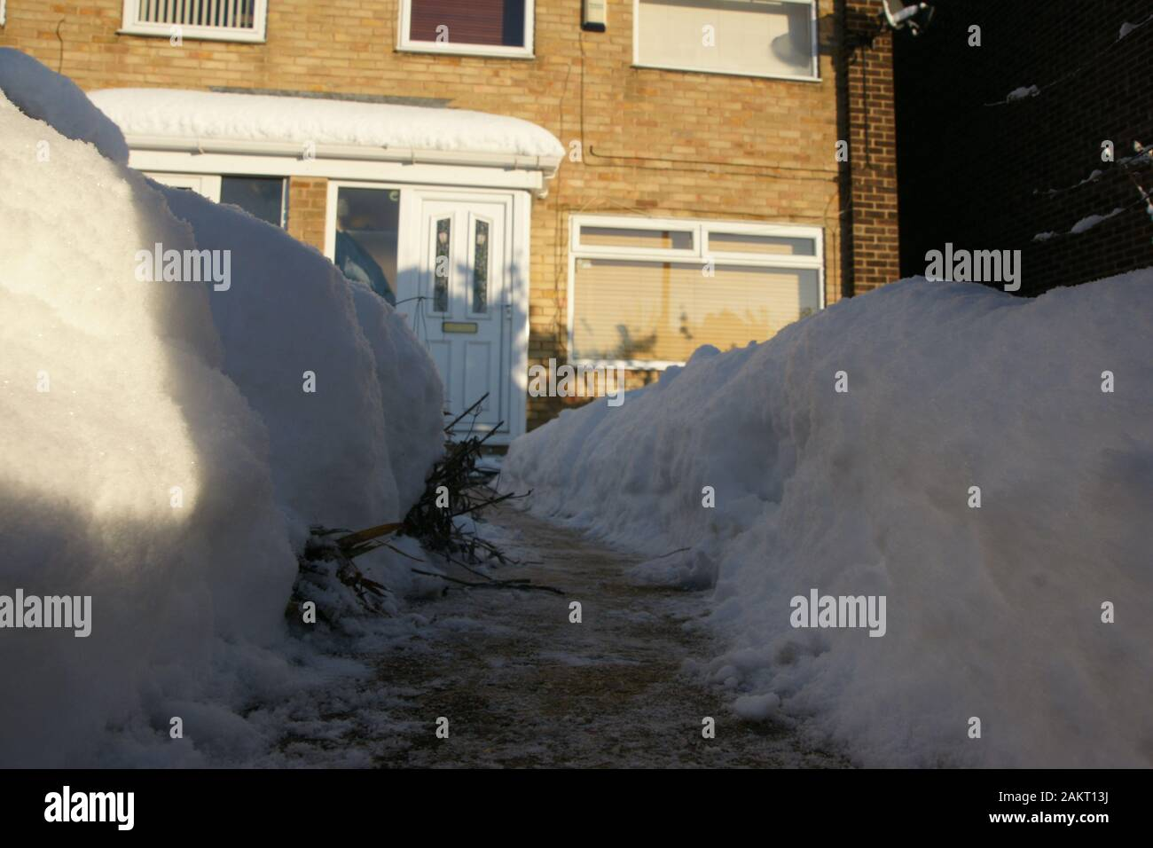 snow covered yorkshire landscape Stock Photo