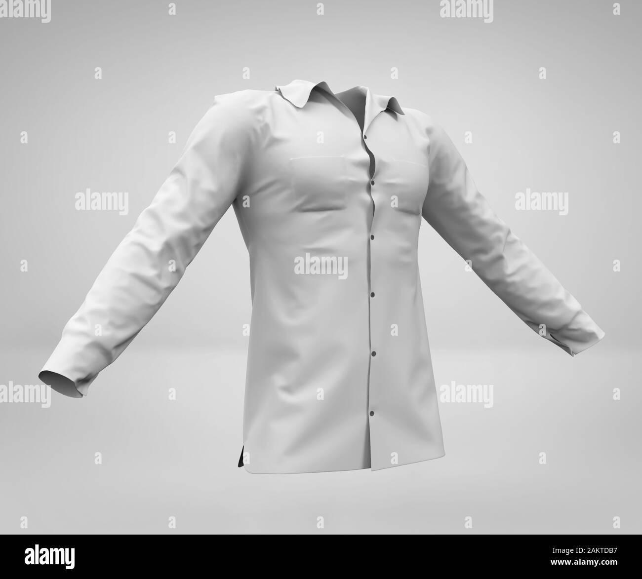 Blank White Man S Long Sleeved Shirt Mockup Male White Shirt