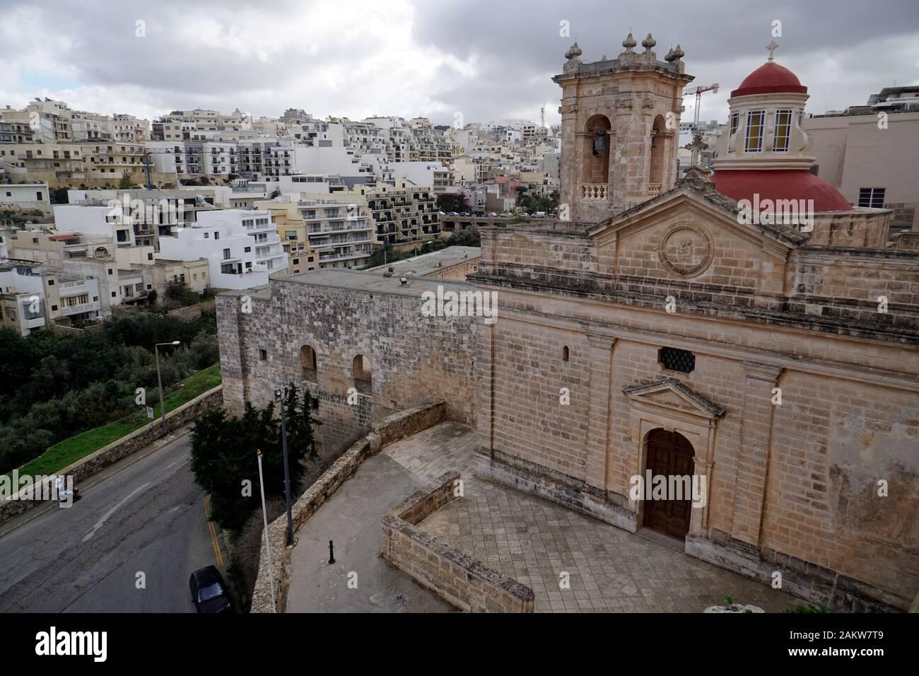 Heiligtum Unserer lieben Frau, Mellieha, Malta Stock Photo