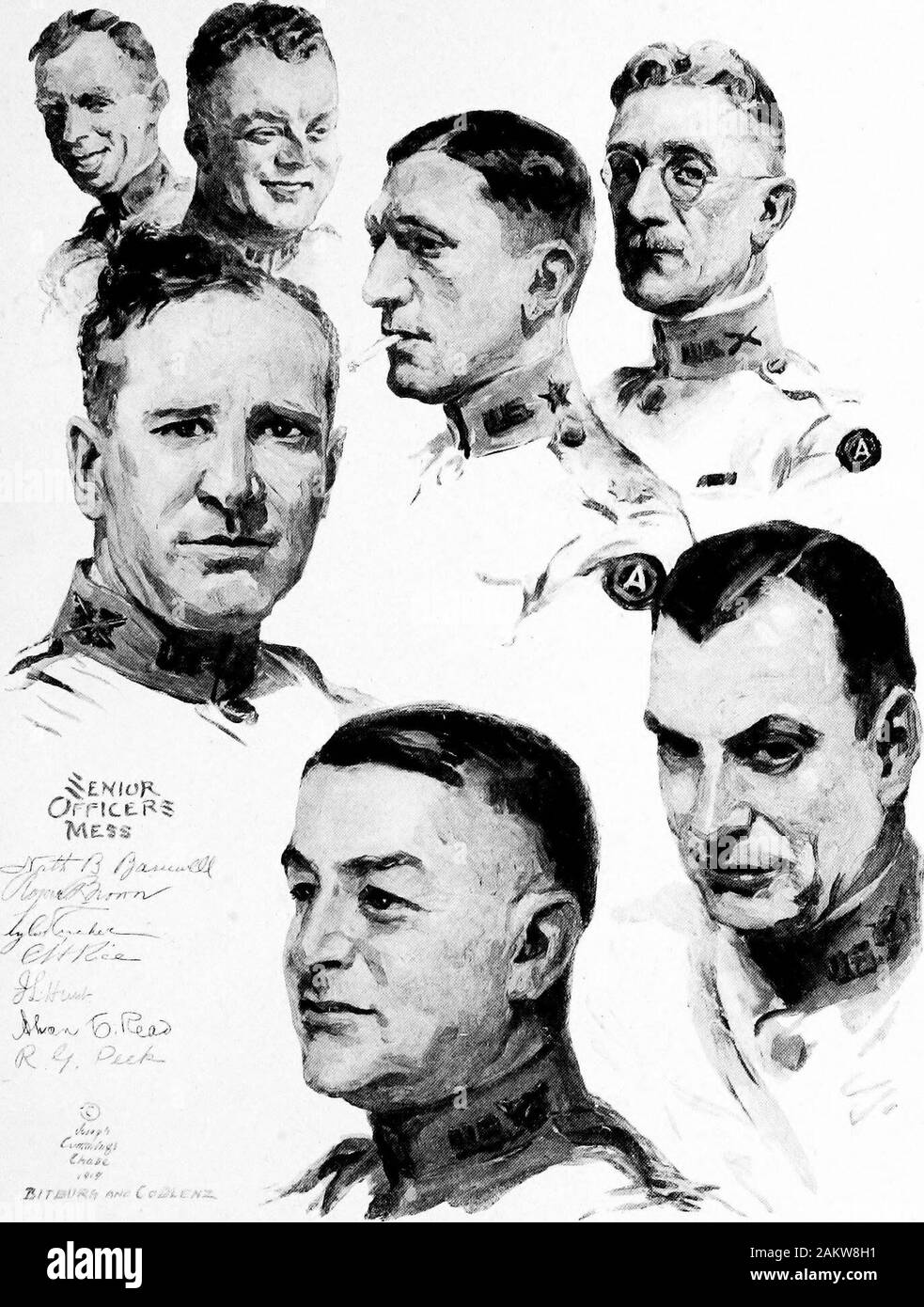 Soldiers all; portraits and sketches of the men of the AEF. . .« y,K *f8V. Stock Photo
