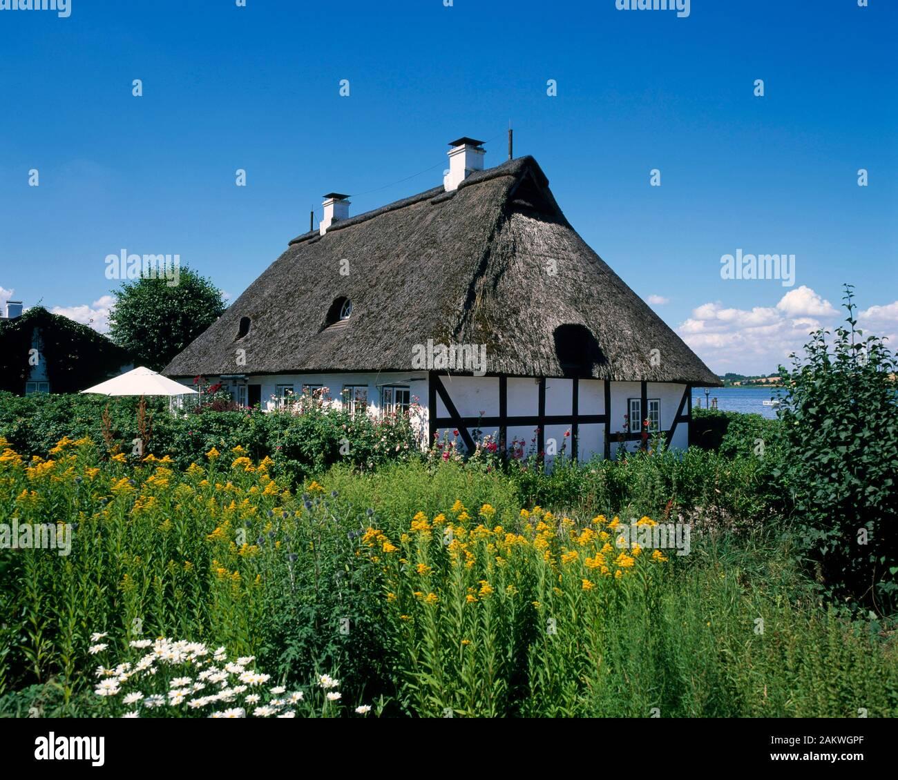 Sieseby, typical  house, Schlei, Balic Sea Coast, Schleswig-Holstein, Germany Stock Photo