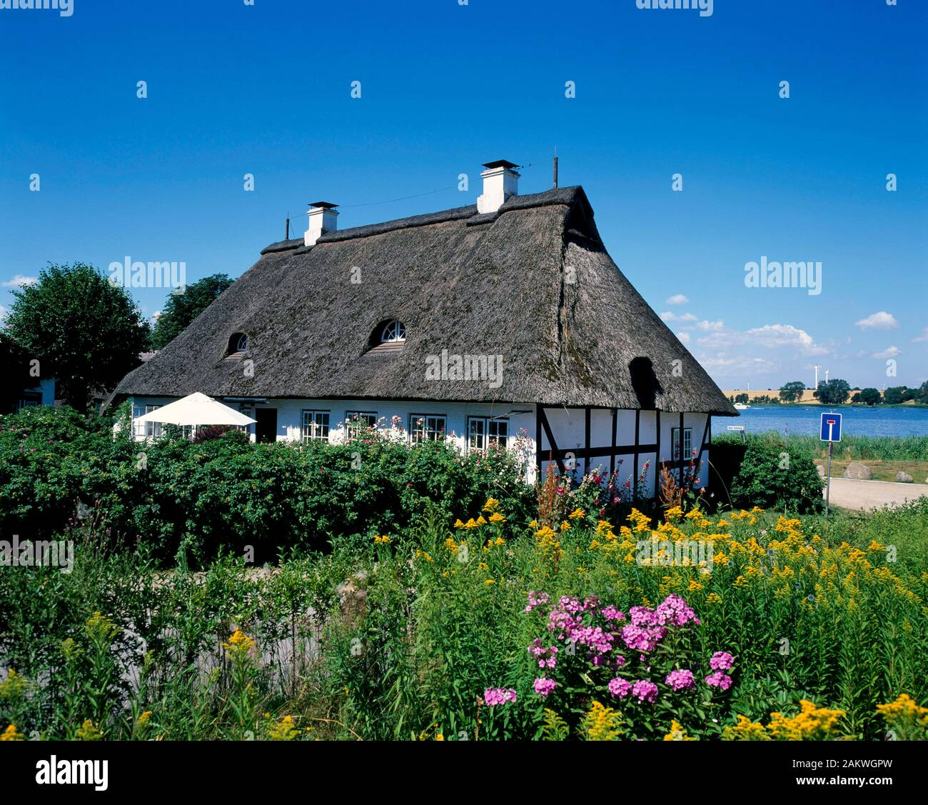Sieseby, typical  house, Schlei, Balic Sea Coast, Schleswig-Holstein, Germany Stock Photo
