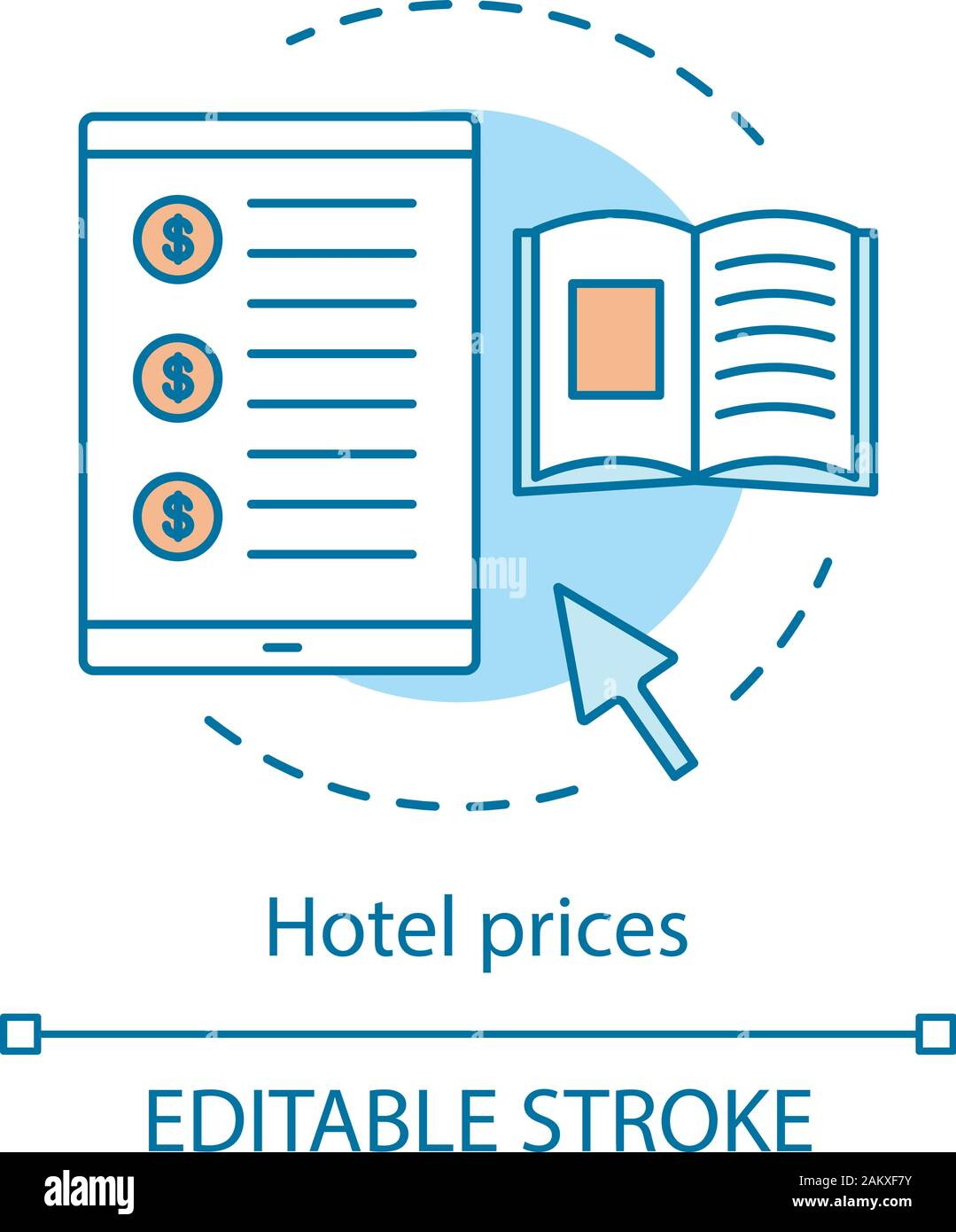 Hotel Prices Concept Icon Room Cost Checking Website Services Invoice Online Booking Reservation App Price Comparison Tracking Idea Thin Line Il Stock Vector Image Art Alamy