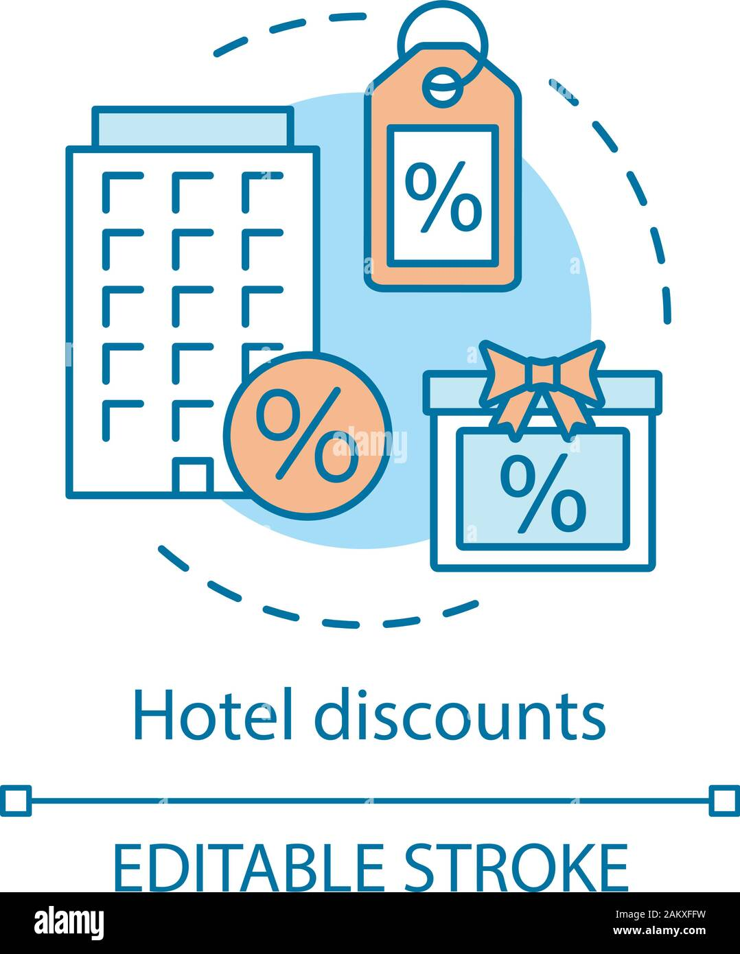 Hotel Discounts Concept Icon Hostel Dormitory Last Minute Hotel Deal Special Offer Low Price Cheap Room Idea Thin Line Illustration Vector Isol Stock Vector Image Art Alamy