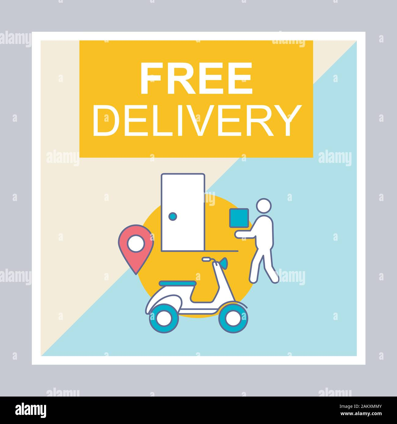 Free Delivery Social Media Posts Mockup Courier Shipping Advertising Web Banner Design Template Social Media Booster Content Layout Isolated Prom Stock Vector Image Art Alamy