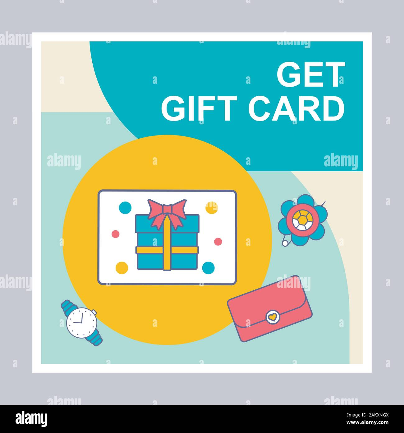 Get Free Gift Card Social Media Posts Mockup Special Offer Advertising Web Banner Design Template Social Media Booster Content Layout Isolated Pr Stock Vector Image Art Alamy