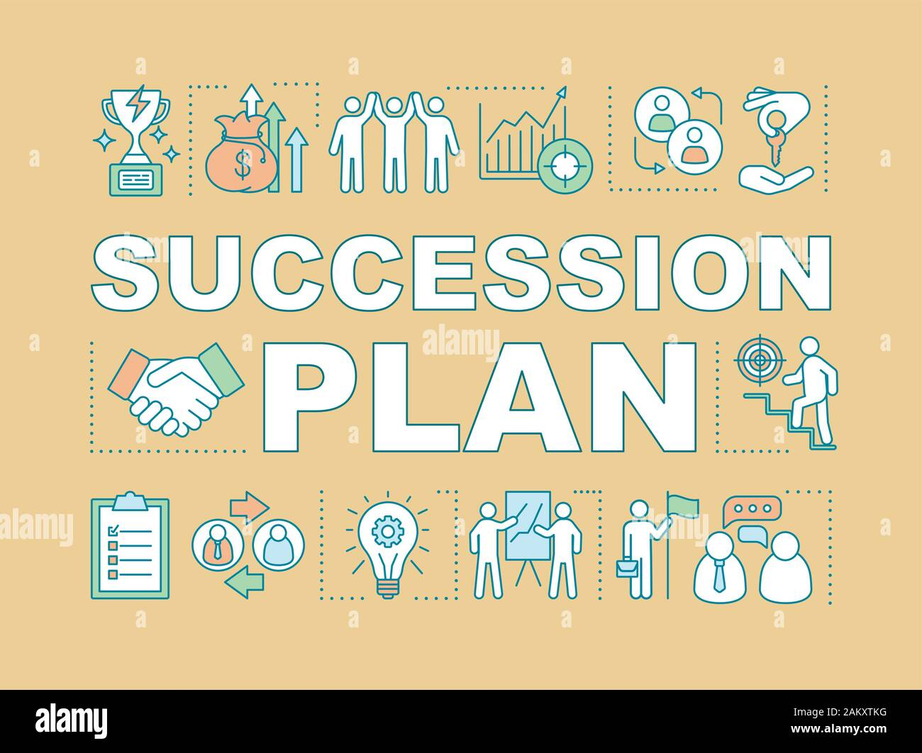 Succession Plan Word Concepts Banner Duties Transfer Recruiting Career Growth Business Strategy Presentation Website Isolated Lettering Typogra Stock Vector Image Art Alamy