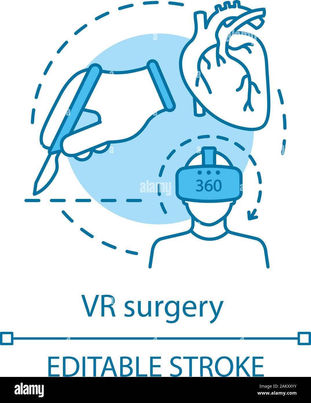 Vr Surgery Concept Icon Virtual Reality In Medicine Cardiac Surgery Medical Training Virtual Reality Application Idea Thin Line Illustration Vect Stock Vector Image Art Alamy