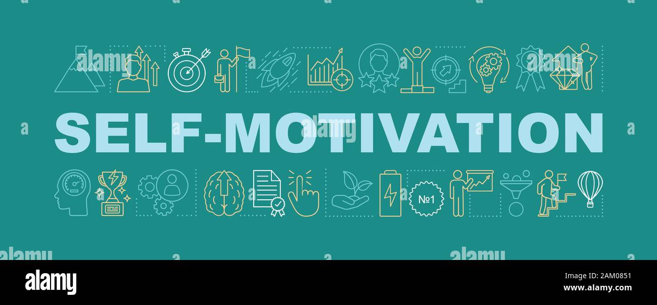 Self Motivation Word Concept Banner Goal Achieving Skill Improvement And Personal Growth Isolated Lettering Typography Idea With Linear Icons Care Stock Vector Image Art Alamy