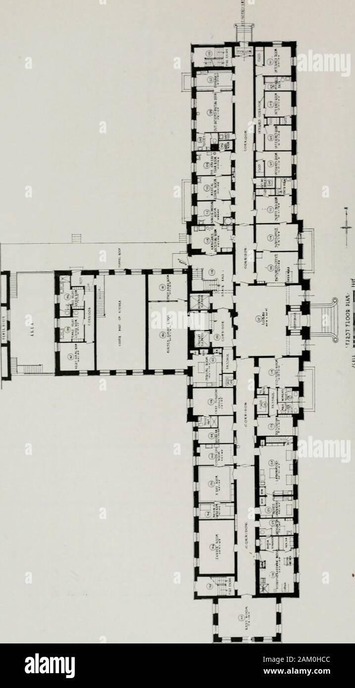 Plan Dressing En U the american hospital of the twentieth century; a treatise