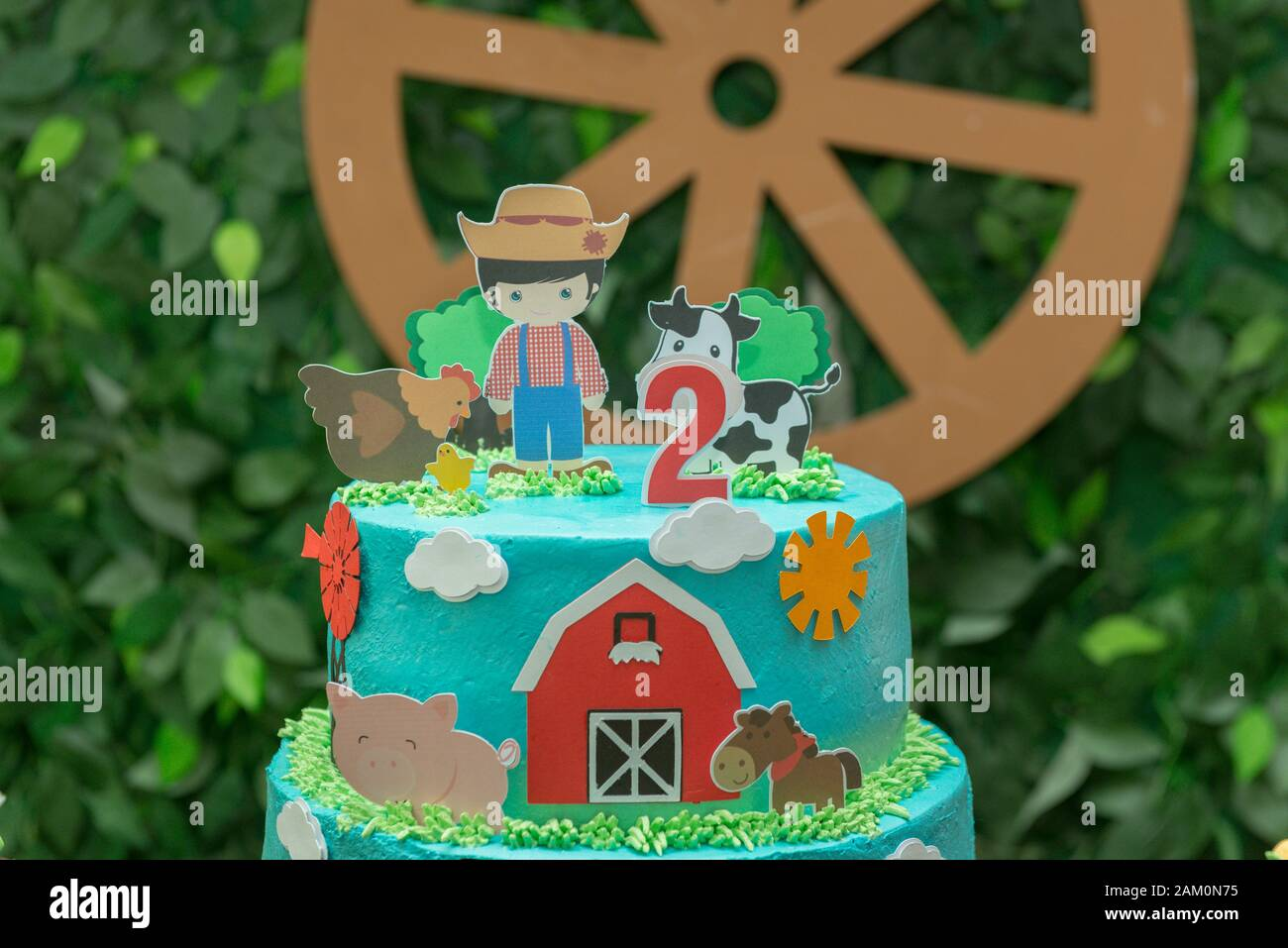 Fantastic Farm Theme Boy Birthday Cake Beautiful Decorated Cake Farmer Funny Birthday Cards Online Elaedamsfinfo