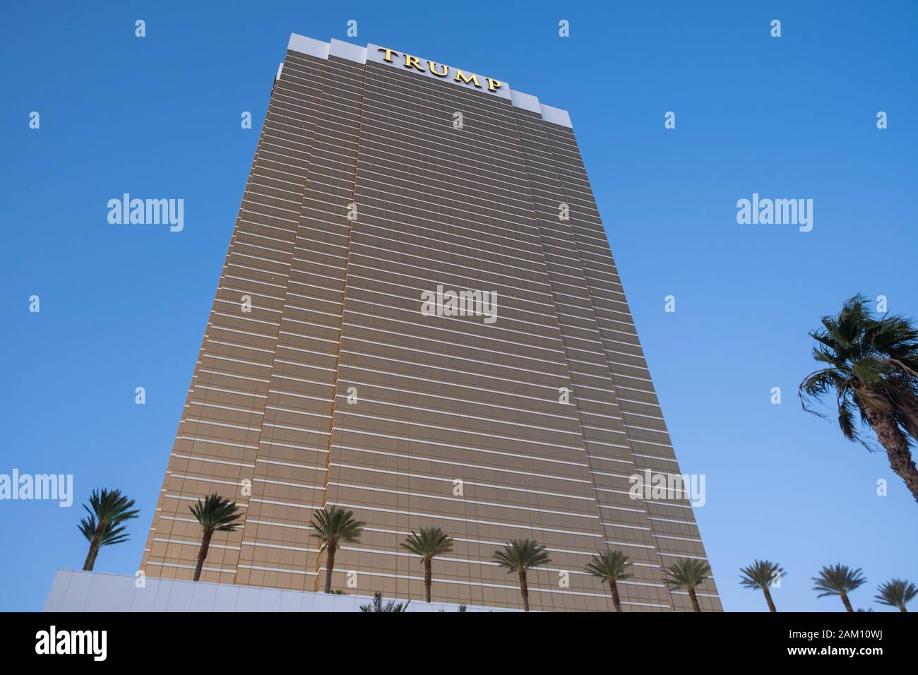 LAS VEGAS, USA - NOVEMBER 26: International Trump Tower hotel in Las Vegas on November 26, 2019 in Las Vegas, USA. Stock Photo