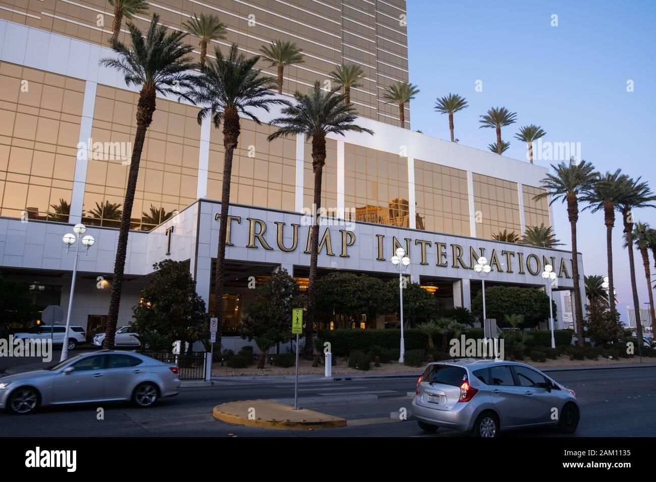 LAS VEGAS, USA - NOVEMBER 26: International Trump Tower hotel in Las Vegas on November 26, 2019 in Las Vegas, USA. Stock Photo
