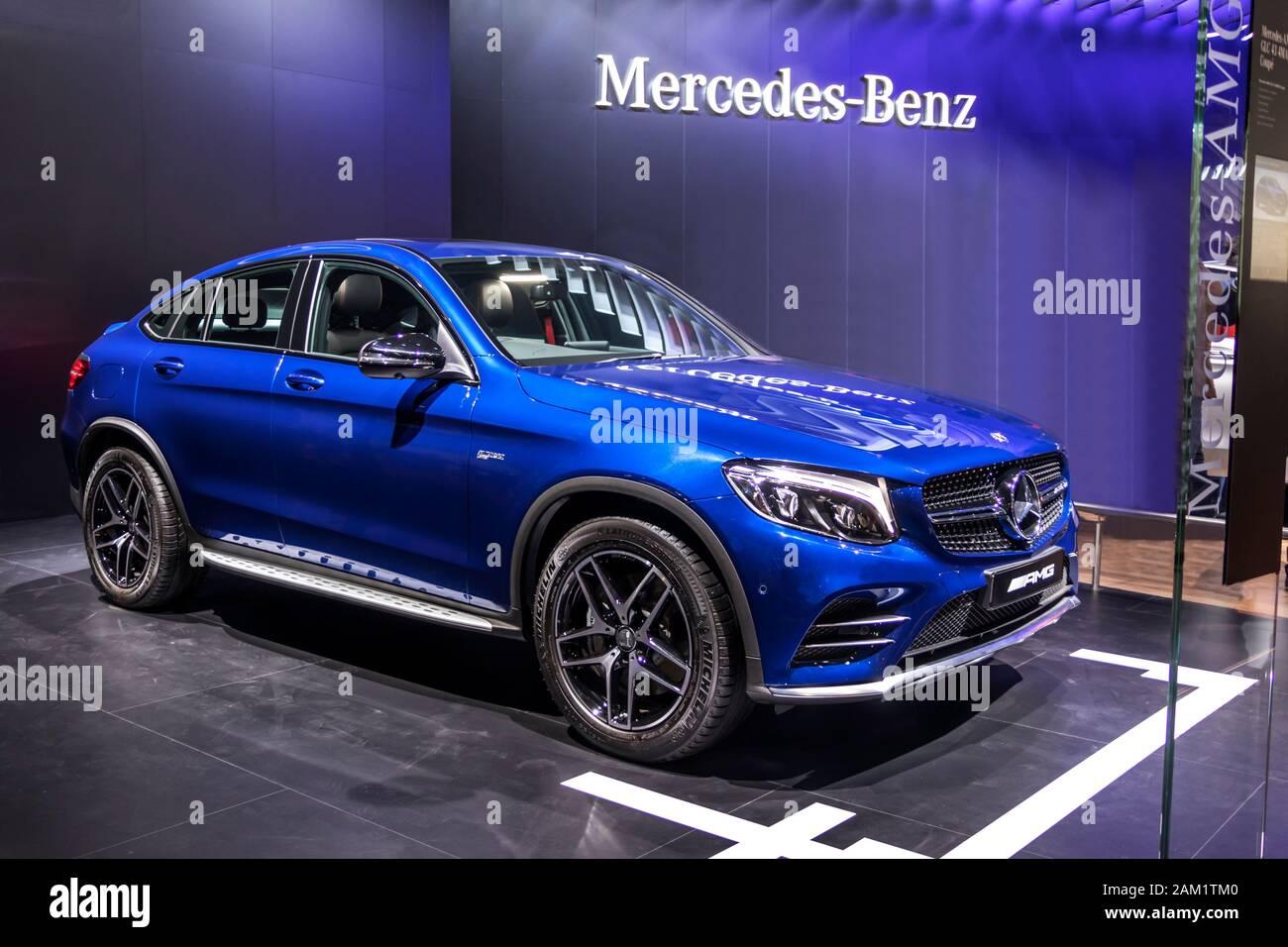 Mercedes Benz Glc Coupe 4matic Suv At Auto Expo Stock Photo Alamy
