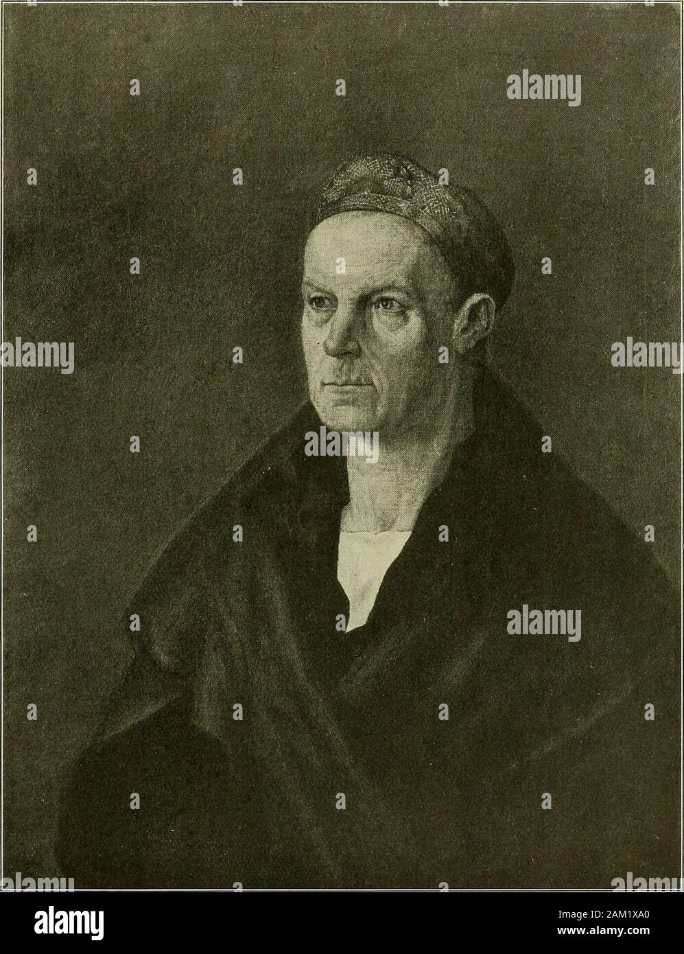 Meisterwerke der Älteren Pinakothek in München ... . Lindenholz 67X49cm Albrecht Dürer. Selbstbildnis im Pelzrock. 42. Leinwand 69X53cm Albrecht Dürer. Bildnis Jakob Fuggers des Reichen 43 Stock Photo