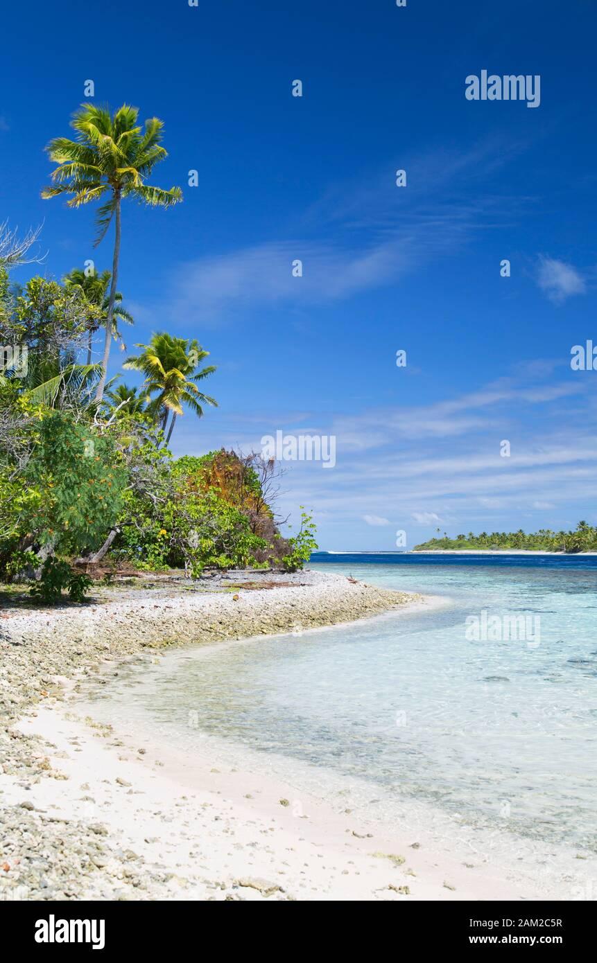 Lagoon at Tetamanu, Fakarava, Tuamotu Islands, French Polynesia Stock Photo