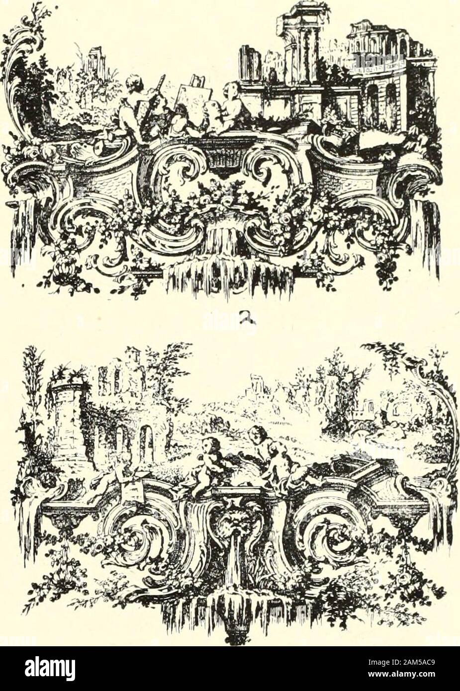An historical guide to French interiors, furniture, decoration, woodwork, & allied arts during the last half of the seventeenth century, the whole of the eighteenth century, and the earlier part of the nineteenth . Stock Photo