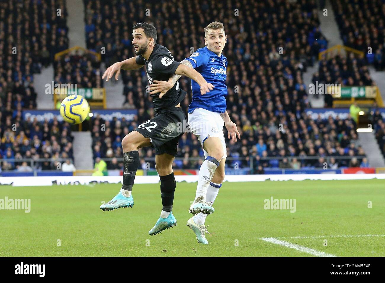Liverpool Uk 11th Jan 2020 Martin Montoya Of Brighton Hove Albion L And Lucas Digne